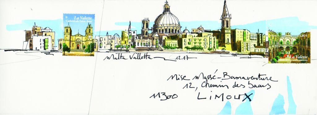 art_postal_par_Nicolas_Roux_lettre_Malte_au_no_mad_festival